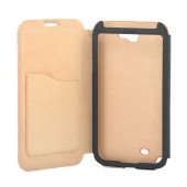 Book Case Ancus for Samsung N7100 Galaxy Note II Orange - Beige