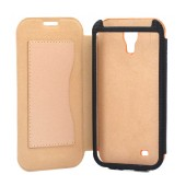 Book Case Ancus for Samsung i9505/i9500 Galaxy S4/Vodafone Smart 4 Orange - Beige