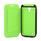 Book Case Ancus for Samsung i9505/i9500 Galaxy S4/Vodafone Smart 4 Olive - Green