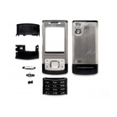 Front Cover Nokia 6500 Slide with keyboard Silver OEM