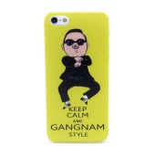 Case Faceplate for Apple iPhone SE/5/5S Gangnam Style Keep Calm Yellow