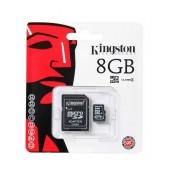 Flash Memory Card Kingston ΜicroSDHC 8GB Class 4 with Adaptor