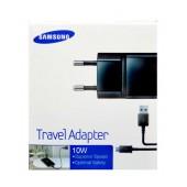 Travel Charger Samsung ETA-U90EΒΕ 10W Black with Detachable Cable MIcro USB for i9070 Galaxy S Advance 2000 mAh