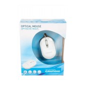 Grundig Wired Mouse 3 Button 800 DPI White (83*51*18mm)
