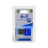 Rechargeable Battery Goop 280 mAh size 9V HR9V Pcs. 1
