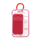 Book Case UFO for Apple iPhone SE/5/5S/5C Pink - Red