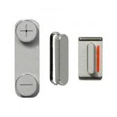 Set Κeypad Apple iPhone 5 Silver OEM Type A