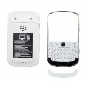 Front Cover BlackBerry Bold Touch 9900 with Jack Connector, Side Keys and Keyboard White Original