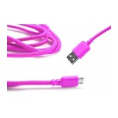 Data Cord Cable Ancus USB to Micro USB Pink