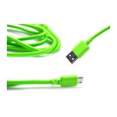 Data Cord Cable Ancus USB to Micro USB with Enhanced Plug-inn Green