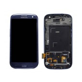 Original LCD & Digitizer Samsung i9300 Galaxy S3 ( S III ) with ΟΕΜ Frame Blue