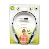 Lifetime Stereo Headphone 3.5 mm Black - Silver with Cable Adapter 6.35mm