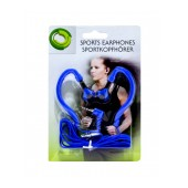 Sport Earphone Ancus 3.5 mm Blue for mp3, mp4 and Sound Devices