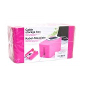 Cable Storage Box Pink
