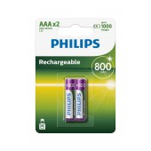 Rechargeable Battery Philips HR03 800 mAh size AAA Pcs. 2