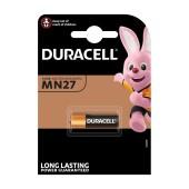Battery Αlkaline Security Duracell 12V size A27/27A/CA22/EL812/EL812/G27A/GP27A/L828/MN27 Pcs. 1