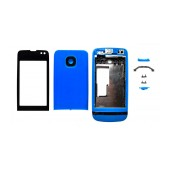 Front Cover Nokia Asha 311 with keyboard Blue OEM