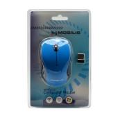 Mobilis Tiny Wireless Mouse 3 Button 800 DPI Black - Blue (91*56*30mm)
