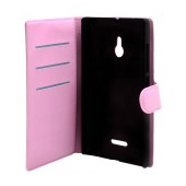 Book Case Ancus Teneo for Nokia XL Dual Pink