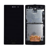 Original LCD & Digitizer for Sony Xperia Ion Black AT&T Logo with Frame