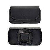 Case Horizontal Ancus for Samsung SM-G900F Galaxy S5 Leather Black