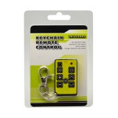 Universal Keychain Remote Control for TV Varius Colors with Battery CR2032 1 Pcs