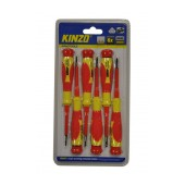 Screwdrive Kinzo 54153 Set 6 Pcs Magnetic Red - Yellow
