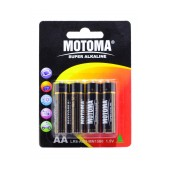 Battery Super Αlkaline Motoma LR6 size AA 1.5V Τεμ. 4
