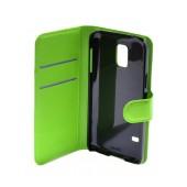 Book Case Ancus Teneo for Samsung SM-G800F Galaxy S5 Mini Green