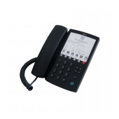 Hotel-Τype Telephone Device Witech WT-5006 Black with Emergency Button and Open Conversation