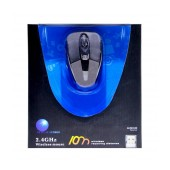 Wireless Colorful Mouse 3 Button 1600 DPI Black-Grey (86*50*25mm)