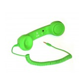 MsPhone Retro Headset 3.5 mm for all Mobile Phones Green