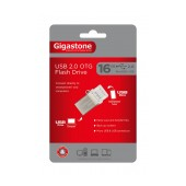 Gigastone Premium USB 2.0 Flash Drive 16GB OTG for Smartphones & Tablet U205