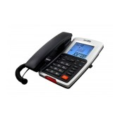 Telephone Maxcom KXT709 Grafite - Silver with Lcd and Incoming Ringing Led Indicator