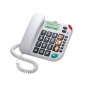 Telephone Maxcom KXT480 White with Lcd, Incoming Ringing Led Indicator and Big Buttons