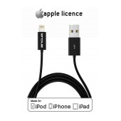 Data Cable Ancus HiConnect for iPhone/iPad/iPod Lightning Black Apple Certified MFI (Compatible with all iOS Upgrades)