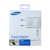 Travel Charger Samsung ETA-U90EWΕ 10W White with Detachable Cable MIcro USB for i9070 Galaxy S Advance 2000 mAh
