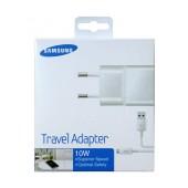 Travel Charger Samsung ETA-U90EWΕ 10W White with Detachable Cable MIcro USB for i9070 Galaxy S Advance 2000 mAh