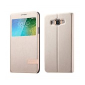 Book S-View Usams Muge Series for Samsung SM-E500 Galaxy E5 Gold
