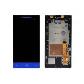 Original LCD & Digitizer for HTC Windows Phone 8S with Frame Blue Original