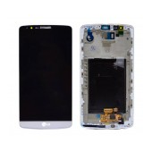 Original LCD & Digitizer for LG G3 D855 White with OEM Frame