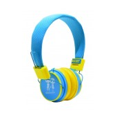 Stereo Earphone Baby EP-15 3.5 mm Blue - Yellow with Microphone and Answer Button for Mobile Phones, mp3, mp4 and Sound Devices