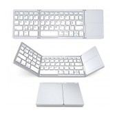 Bluetooth Keyboard Tixie Folding Large for Smartphone, Tablet, PC, και SmartTV Silver