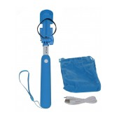 Selfie Stick Ancus Mini Bluetooth Blue (Closed 18cm, with Extention 72cm )