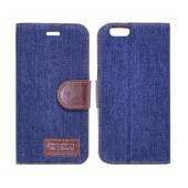 Book Case Ancus Teneo Fabric for Apple iPhone 6/6S Dark Blue