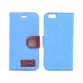 Book Case Ancus Teneo Fabric for Apple iPhone 6/6S Light Blue