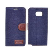 Book Case Ancus Teneo Fabric for Samsung SM-N920F Galaxy Note 5 Dark Blue