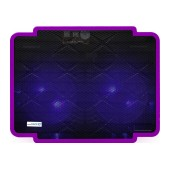 Laptop Cooler CoolCold Ice Thin K17-1(2 FANS) Purple for Laptop up to 15.6