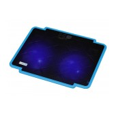 Laptop Cooler CoolCold Ice Thin K17-1(2 FANS) Blue for Laptop up to 15.6