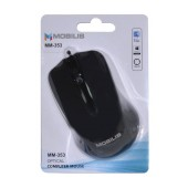 Wired Mouse Mobilis MM-353 with 3 Buttons and 1000 DPI Black